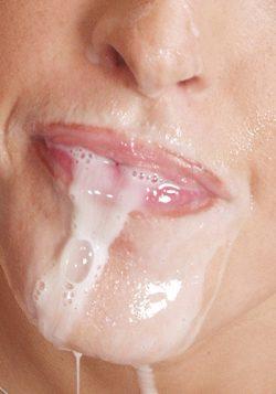In den Mund spritzen